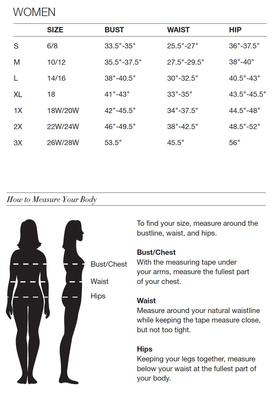Women's Dress Sizes